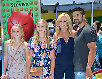 Tamra Judge, Eddie Judge &amp; Family at the world premiere for &quot;The Emoji Movie&quot; at the Regency Village Theatre, Westwood. Los Angeles, USA 23 July  2017<br /> Picture: Paul Smith/Featureflash/SilverHub 0208 004 5359 sales@silverhubmedia.com