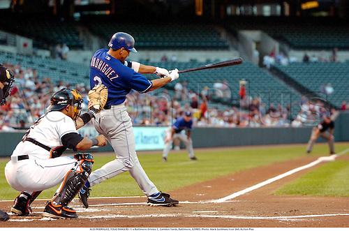 ALEX RODRIGUEZ, TEXAS RANGERS 11 v Baltimore Orioles 2,  Camden Yards, Baltimore, 020905. Photo: Mark Goldman/Icon SMI/Action Plus...2002 baseball ball sports sport player players