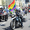 The 25th Anniversary of Brighton Pride on the seafront in Brighton, East Sussex, Great Britain <br /> 1st August 2015 <br /> <br /> Participants in the parade setting up and preparing to march to Preston Park, the march was held up for approx one hour by Police due to a suspect package being found tied to a lamppost on the seafront, the bomb disposal unit were called and a controlled explosion was carried out. The march was re- routed and went on as planned approx. 160,000 people turned out to watch the parade. <br /> <br /> <br /> <br /> Photograph by Elliott Franks <br /> Image licensed to Elliott Franks Photography Services