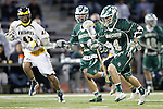 Placentia, CA 05/14/10 - Conor Murphy (MC # 4) gets in the box during the first quarter of play as Mira Costa keeps pace with Foothill during the opening moments of the game.     ©2010 Dirk Dewachter  www.dewachter.net