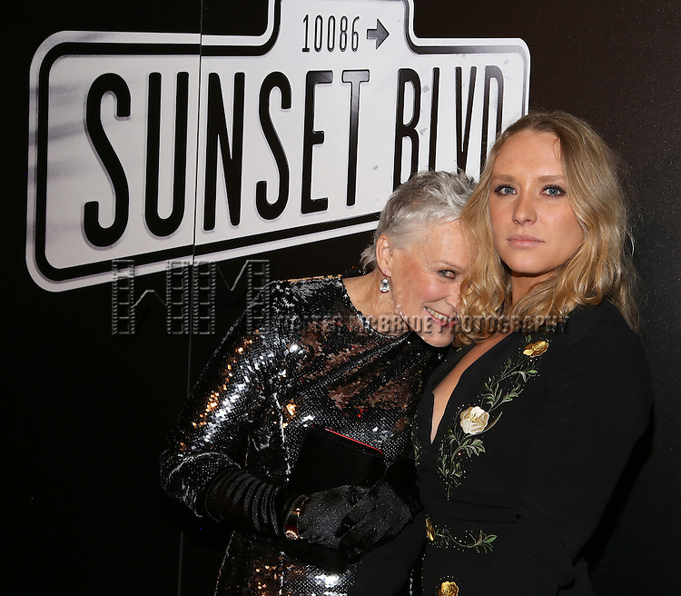 Glenn Close and daughter Annie Starke attend the Opening Night After Party for Andrew Lloyd Webber's 'Sunset Boulevard' at the Cipriani on February 9, 2017 in New York City.