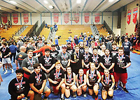 RICK PECK/SPECIAL TO MCDONALD COUNTY PRESS<br /> The McDonald County High School boys' powerlifting team took fourth and the girls' team took seventh at the state powerlifting championships held March 9 at Glendale High School in Springfield.