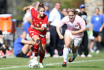 23 October 2011: Maryland's Becky Kaplan. The Duke University Blue Devils defeated the University of Maryland Terrapins 3-1 at Koskinen Stadium in Durham, North Carolina in an NCAA Division I Women's Soccer game.