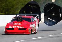 May 16, 2014; Commerce, GA, USA; NHRA pro mod driver Peter Farber during qualifying for the Southern Nationals at Atlanta Dragway. Mandatory Credit: Mark J. Rebilas-USA TODAY Sports