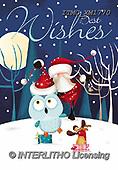 Marcello, CHRISTMAS ANIMALS, WEIHNACHTEN TIERE, NAVIDAD ANIMALES, paintings+++++,ITMCXM1770,#XA# ,owls