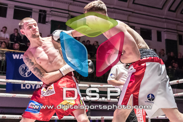 Ricky Heavens vs Sylwester Walczak Super Welterweight &bull; 4x3 Contest During Goodwin Boxing - Violent Engagement. Photo by: Simon Downing.<br /> <br /> Saturday November 25th 2017 - York Hall, Bethnal Green, London, United Kingdom.