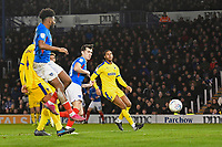 John Marquis of Portsmouth scores the second goal during Portsmouth vs AFC Wimbledon, Sky Bet EFL League 1 Football at Fratton Park on 11th January 2020