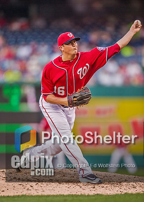 19 September 2015: Washington Nationals pitcher Sammy Solis on the mound against the Miami Marlins at Nationals Park in Washington, DC. The Nationals defeated the Marlins 5-2 in the third game of their 4-game series. Mandatory Credit: Ed Wolfstein Photo *** RAW (NEF) Image File Available ***