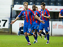 CALEY'S ANDREW SHINNIE CELEBRATES AFTER HE SCORES INVERNESS' THIRD GOAL