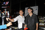 One Life To Live Lenny Platt and Jake Silberman - Stars of Daytime and Prime Time Television and Broadway bartend to benefit Stockings with Care 2011 Holiday Drive  - Celebrity Bartending Event with Silent Auction & Raffle on November 16, 2011 at the Hudson Station Bar & Grill, New York City, New York. For more information - www.stockingswithcare.org.  (Photo by Sue Coflin/Max Photos)