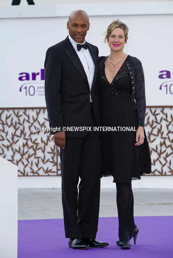 """COLIN SALMON AND WIFE FIONA HAWTHORNE.attend the 10th ARK Gala Dinner, Kensington Palace Gardens, London_09/06/2011.This was the couple's first official engagement since the wedding.Mandatory Photo Credit: ©Dias/NEWSPIX INTERNATIONAL.**ALL FEES PAYABLE TO: """"NEWSPIX INTERNATIONAL""""**..PHOTO CREDIT MANDATORY!!: DIASIMAGES(Failure to credit will incur a surcharge of 100% of reproduction fees)..IMMEDIATE CONFIRMATION OF USAGE REQUIRED:.DiasImages, 31a Chinnery Hill, Bishop's Stortford, ENGLAND CM23 3PS.Tel:+441279 324672  ; Fax: +441279656877.Mobile:  0777568 1153.e-mail: info@diasimages.com"""