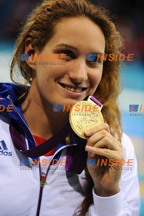 Camille Muffat France Gold Medal Women's 400m Freestyle.London 29/7/2012 Aquatics Centre.London 2012 Olympic games - Olimpiadi Londra 2012.Swimming - Nuoto.Foto Andrea Staccioli Insidefoto