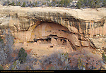 Oak Tree House Cliff Dwelling, Anasazi Hisatsinom Ancestral Pueblo Site, Fewkes Canyon, Mesa Verde National Park, Colorado