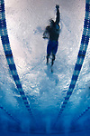 GREENSBORO, NC - MARCH 15: An underwater view of the Oklahoma Baptist Bison relay during the preliminary heats of the Men's 200 Yard Freestyle Relay at the Division II Men's and Women's Swimming & Diving Championship held at the Greensboro Aquatic Center on March 15, 2018 in Greensboro, North Carolina. (Photo by Mike Comer/NCAA Photos/NCAA Photos via Getty Images)