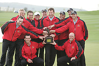 Winning Team GB and Ireland after the final round singles of the Seve Trophy at The Heritage Golf Resort, Killenard,Co.Laois, Ireland 30th September 2007 (Photo by Eoin Clarke/GOLFFILE)