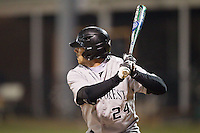 Charlie Morgan (24) of the Wake Forest Demon Deacons at bat against the Davidson Wildcats at Wilson Field on March 19, 2014 in Davidson, North Carolina.  The Wildcats defeated the Demon Deacons 7-6.  (Brian Westerholt/Four Seam Images)