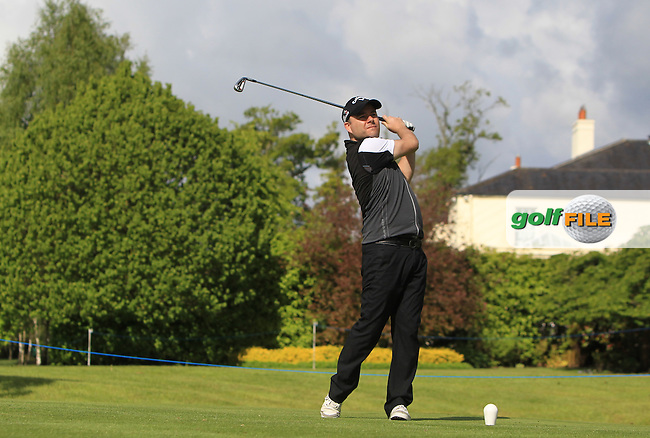 Peter Finnan (AM) on the 14th tee during Wednesday's Pro-Am round of the Dubai Duty Free Irish Open presented  by the Rory Foundation at The K Club, Straffan, Co. Kildare<br /> Picture: Golffile | Thos Caffrey<br /> <br /> All photo usage must carry mandatory copyright credit <br /> (&copy; Golffile | Thos Caffrey)