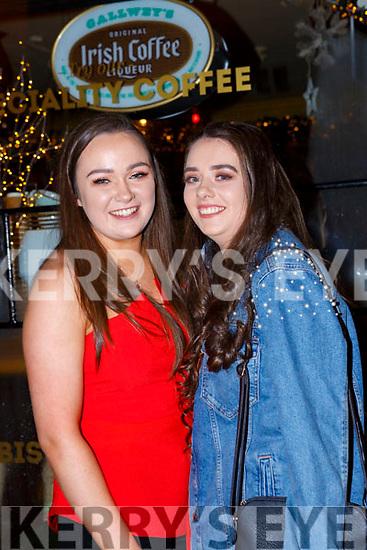 Laura Stack and Emily Rose Mulcahy celebrating New Years Eve in Reidys bar Killarney