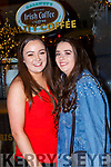 Laura Stack and Emily Rose Mulcahy celebrating New Years Eve in Reidys bar Killarney
