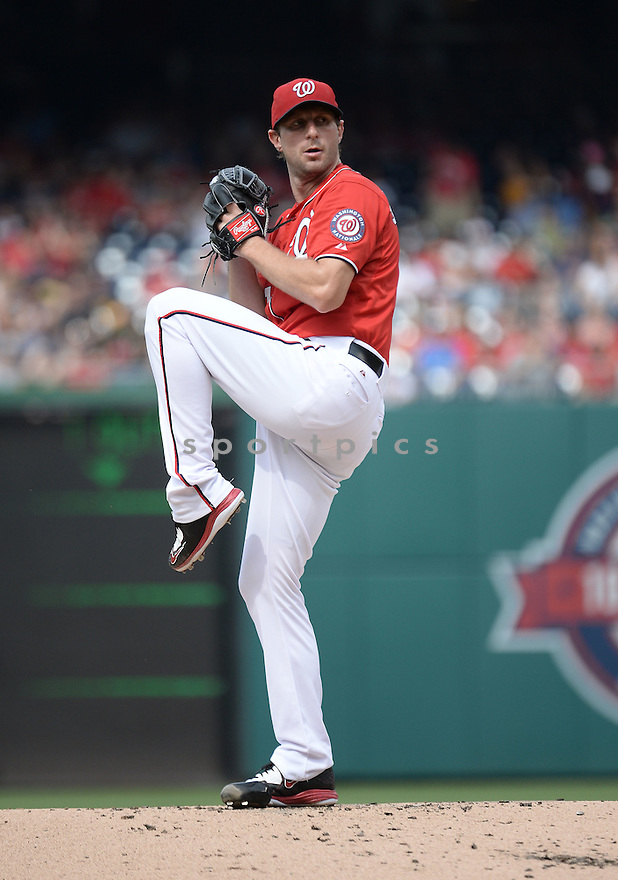 Washington Nationals Max Scherzer (31) during his no hitter game against the Pittsburgh Pirates on June 20, 2015 at Nationals Park in Washington, DC. The Nationals beat the Pirates 6-0.