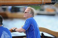 SKÛTSJESILEN: FRYSLÂN: SKS kampioenschap 2015, Skûtsje Stavorenschipper Auke de Groot©foto Martin de Jong