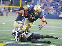 Annapolis, MD - October 21, 2017: Navy Midshipmen fullback Anthony Gargiulo (38) scores a touchdown during the game between UCF and Navy at  Navy-Marine Corps Memorial Stadium in Annapolis, MD.   (Photo by Elliott Brown/Media Images International)
