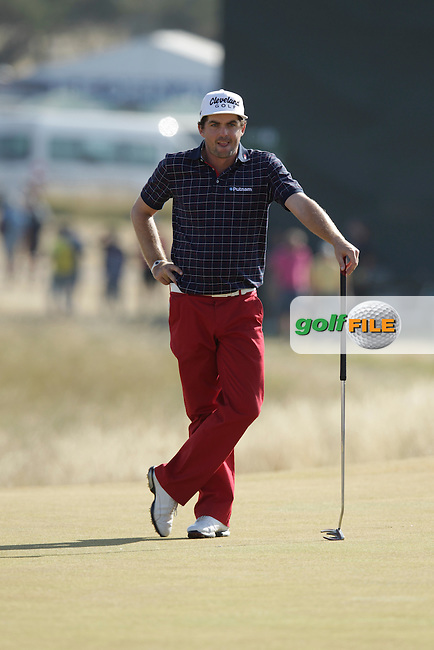 Keegan BRADLEY (USA) during round two of  The 142th Open Championship Muirfield, Gullane, East Lothian, Scotland 19/7/2013<br /> Picture Eoin Clarke www.golffile.ie:
