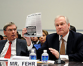"Washington, D.C. - January 15, 2008 -- Donald Fehr, Executive Director, Major League Baseball Players Association (MLBPA), right, shows an ad for human growth hormone to show how easy it is to obtain as he testifies before the United States House Committee on Oversight and Government Reform hearing on ""The Mitchell Report: The Illegal Use of Steroids in Major League Baseball."" on Tuesday, January 15, 2008.  Major League Baseball Commissioner Bud Selig looks on from left..Credit: Ron Sachs / CNP.[RESTRICTION: No New York Metro or other Newspapers within a 75 mile radius of New York City]"