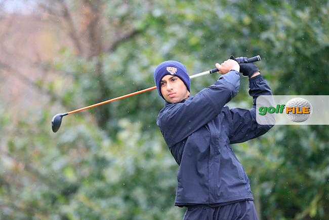 Piran Adi (USA) tees off the 1st tee during Saturday's Round 2 of the 2015 Lytham Trophy held at Lytham &amp; St.Annes Golf Club. 2nd May 2015.<br /> Picture: Eoin Clarke www.golffile.ie