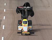 Feb 21, 2015; Chandler, AZ, USA; NHRA top fuel driver Spencer Massey during qualifying for the Carquest Nationals at Wild Horse Pass Motorsports Park. Mandatory Credit: Mark J. Rebilas-