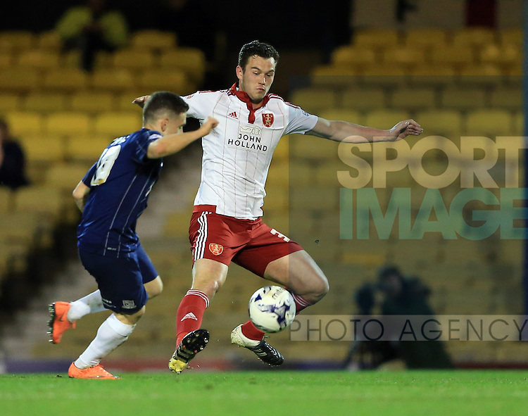 Sheffield United's Harrison McGahey in action during the League One match at Roots Hall Stadium.  Photo credit should read: David Klein/Sportimage