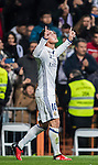 James Rodriguez of Real Madrid celebrates during their Copa del Rey Round of 16 match between Real Madrid and Sevilla FC at the Santiago Bernabeu Stadium on 04 January 2017 in Madrid, Spain. Photo by Diego Gonzalez Souto / Power Sport Images