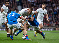 Brad Shields of England during the Guinness Six Nations match between England and Italy at Twickenham Stadium on March 9th, 2019 in London, United Kingdom. Photo by Liam McAvoy.