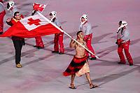 PYEONGCHANG,SOUTH KOREA,09.FEB.18 - OLYMPICS - Olympic Winter Games PyeongChang 2018, official opening ceremony. Image shows Pita Taufatofua (TGA) with flag. Photo: GEPA pictures/ Matic Klansek / Copyright : Explorer-media