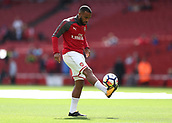 9th September 2017, Emirates Stadium, London, England; EPL Premier League Football, Arsenal versus Bournemouth; Alexandre Lacazette of Arsenal during pre match warm up