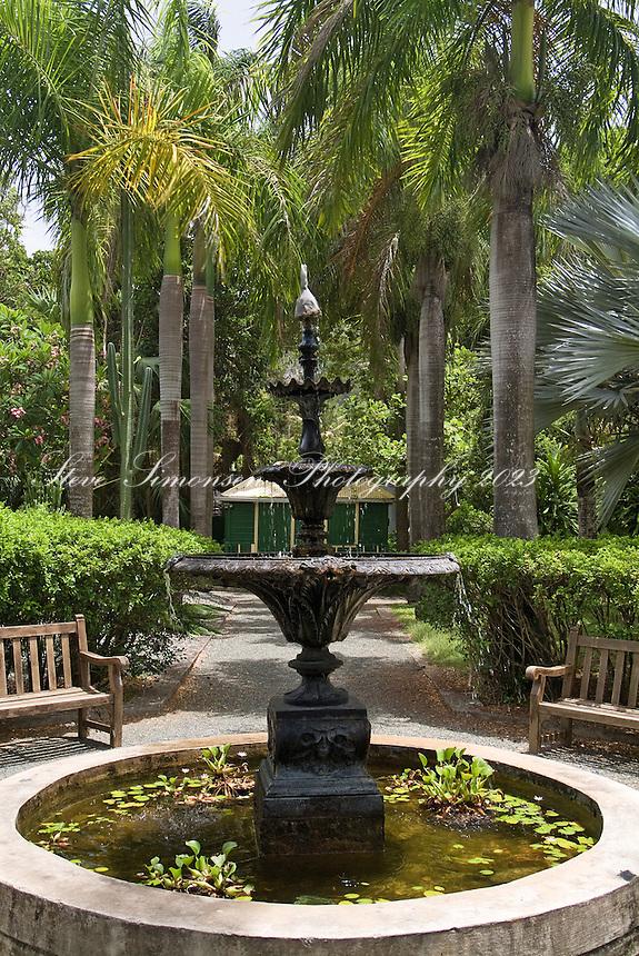 O'Neal Botanic Gardens, Road Town, Tortola, water fountain