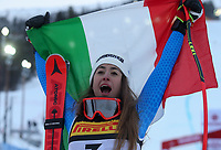 ARE,SWEDEN,05.FEB.19 - ALPINE SKIING - FIS Alpine World Ski Championships, Super G, ladies, flower ceremony. Image shows Sofia Goggia (ITA) Silver Medal <br /> <br /> Photo: GEPA pictures/ Mario Kneisl/Insidefoto <br />  <br /> ITALY ONLY