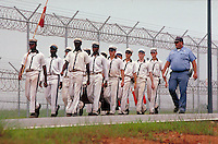 Prison for youthful offenders in Forsyth, Georgia. youth, crime, detention, child, children, incarceration, uniform clothing. prison. Georgia, Forsyth, Georgia prison.