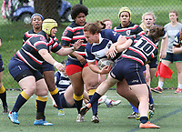 Penn State women's rugby Azniv Nalbandian against Washington DC Furies women's rugby on April 22, 2017.  Penn State won 60-10. Photo/©2017 Craig Houtz