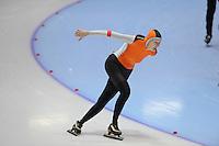 SCHAATSEN: HEERENVEEN: Thialf, 4th Masters International Speed Skating Sprint Games, 25-02-2012, Anneke Balster (F60) 3rd, ©foto: Martin de Jong