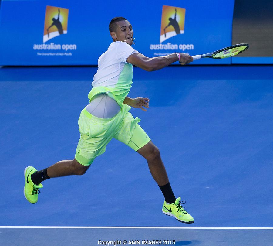 NICK KYRGIOS (AUS)<br /> <br />  - Australian Open 2015 - Grand Slam -  Melbourne Park - Melbourne - Victoria - Australia  - 27 January 2015. <br /> &copy; AMN IMAGES