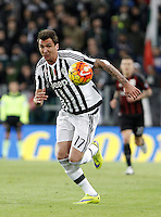 Calcio, Serie A: Juventus vs Milan. Torino, Juventus Stadium, 21 novembre 2015. <br /> Juventus&rsquo; Mario Mandzukic in action during the Italian Serie A football match between Juventus and AC Milan at Turin's Juventus stadium, 21 November 2015. Juventus won 1-0.<br /> UPDATE IMAGES PRESS/Isabella Bonotto