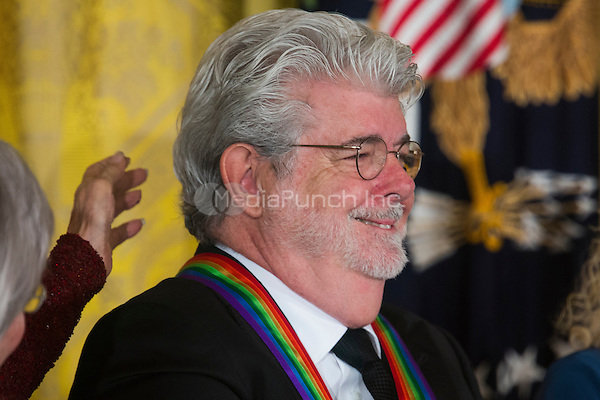 Filmmaker George Lucas attends the Kennedy Center Honorees Reception in the East Room of the White House in Washington, DC, USA, 06 December 2015. US President Barack Obama and First Lady Michelle Obama hosted the gathering.  The 2015 Kennedy Center honorees are: singer-songwriter Carole King, filmmaker George Lucas, actress and singer Rita Moreno, conductor Seiji Ozawa, and actress and Broadway star Cicely Tyson.  <br /> Credit: Jim LoScalzo / Pool via CNP/MediaPunch