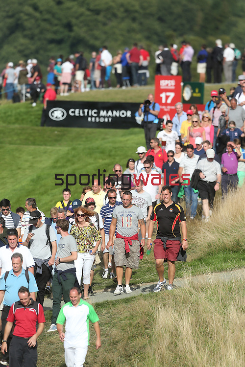 ISPS Handa Wales Open 2013<br /> Celtic Manor Resort<br /> Spectators around the 17th tee.<br /> 01.09.13<br /> <br /> &copy;Steve Pope-Sportingwales