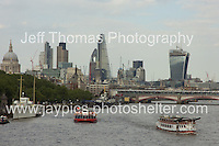 The river Thames with the City of London in the distance.<br /> <br /> <br /> Photo credit: Jeff Thomas - Jeff Thomas Photography - 07837 386244/07837 216676 - www.jaypics.photoshelter.com - thomastwotimes@live.co.uk