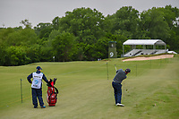 Padraig Harrington (IRL) hits his approach shot on 9 during round 2 of the AT&T Byron Nelson, Trinity Forest Golf Club, Dallas, Texas, USA. 5/10/2019.<br /> Picture: Golffile | Ken Murray<br /> <br /> <br /> All photo usage must carry mandatory copyright credit (© Golffile | Ken Murray)