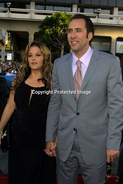 ©2002 Kathy Hutchins/ Hutchins Photo.WINDTALKER PREMIERE.GRAUMAN'S CHINESE THEATRE.6/11/02.LISA MARIE PRESLEY, WITH NICOLAS CAGE -- LISA MARIE APPEARS TO BE ABOUT 4 -5 MONTHS PREGNANT.. UNCONFIRMED