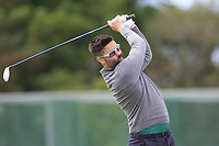 Sean Ryan (Royal Dublin) on the 1st tee during Round 4 of The East of Ireland Amateur Open Championship in Co. Louth Golf Club, Baltray on Monday 3rd June 2019.<br /> <br /> Picture:  Thos Caffrey / www.golffile.ie<br /> <br /> All photos usage must carry mandatory copyright credit (© Golffile | Thos Caffrey)