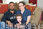 Panhaj Shazma, Killarney, who is waiting for a kidney transplant..pictured with his wife Eibhlin Ni Chathain and daughter Sean. ..
