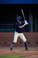 Mobile BayBears Bo Way (3) at bat during a Southern League game against the Jacksonville Jumbo Shrimp on May 7, 2019 at Hank Aaron Stadium in Mobile, Alabama.  Mobile defeated Jacksonville 2-0.  (Mike Janes/Four Seam Images)